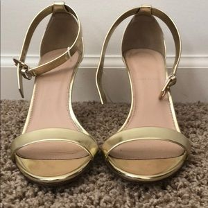 J crew gold metallic size 8